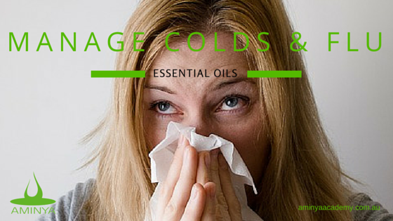 Essential Oils for Colds and Flu, woman sneezing